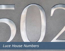 Luce House Numbers