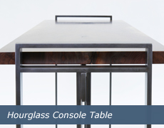 Hourglass Console Table