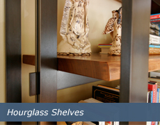 Hourglass Shelves